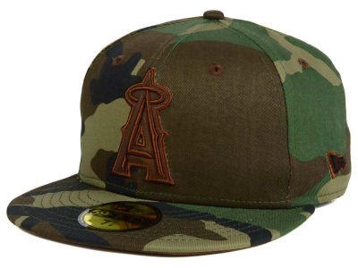 Los Angeles Angels New Era MLB Leatherwood 59FIFTY Cap