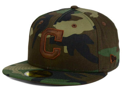 Cleveland Indians New Era MLB Leatherwood 59FIFTY Cap