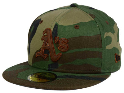 Oakland Athletics New Era MLB Leatherwood 59FIFTY Cap