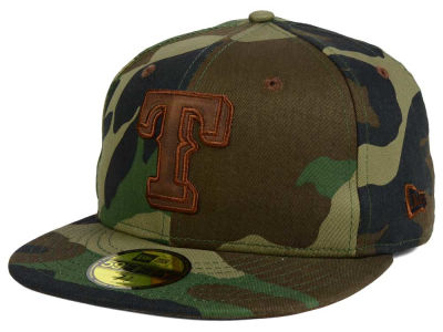 Texas Rangers New Era MLB Leatherwood 59FIFTY Cap