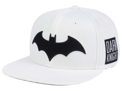 DC Comics Batman White on Black Snapback Cap