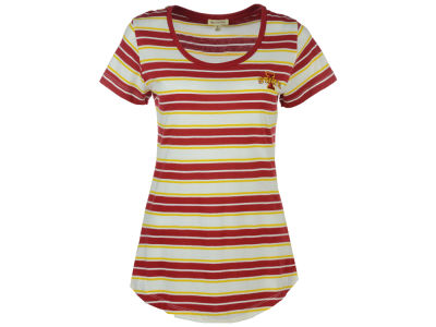 Iowa State Cyclones University Girls NCAA Women's Missy Tailgate Stripe T-shirt