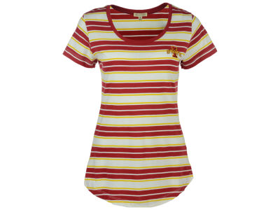 Iowa State Cyclones University Girls NCAA Women's Plus Size Tailgate Stripe T-Shirt