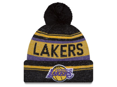 Los Angeles Lakers New Era NBA Hardwood Court Snow Dayz Knit