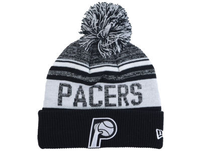 Indiana Pacers New Era NBA Hardwood Classic White Out Knit