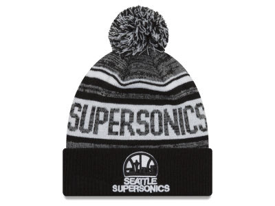 Seattle SuperSonics New Era NBA Hardwood Classic White Out Knit