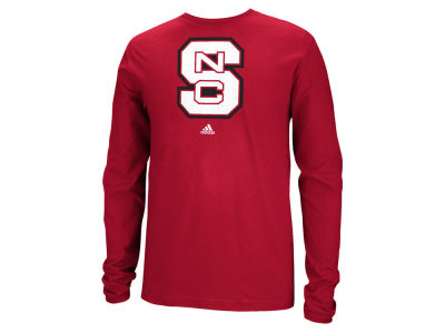 North Carolina State Wolfpack adidas NCAA Men's School Logo Long Sleeve T-Shirt