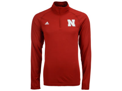 Nebraska Cornhuskers adidas NCAA Men's Primary Screen Ultimate Quarter Zip Pullover