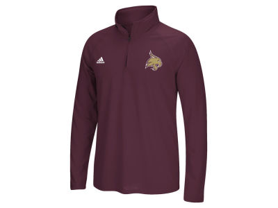 Texas State Bobcats adidas NCAA Men's Primary Screen Ultimate Quarter Zip Pullover