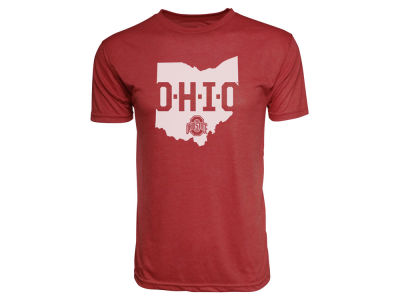 Ohio State Buckeyes NCAA Men's Vintage Colored Triblend State T-Shirt