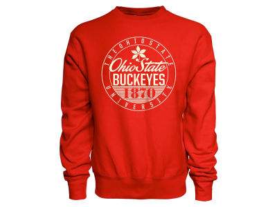Ohio State Buckeyes NCAA Men's Circle Script Sport Weave Crew Sweatshirt