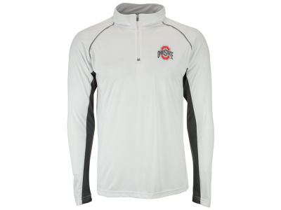 Ohio State Buckeyes J America NCAA Men's Colorblock Mesh Quarter Zip Pullover