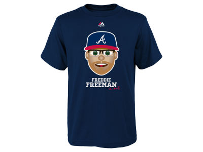 Atlanta Braves Freddie Freeman Majestic MLB Youth Emoji T-Shirt