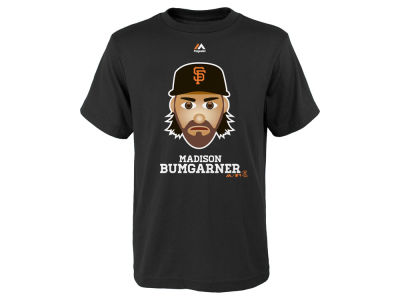 San Francisco Giants Madison Bumgarner Majestic MLB Youth Emoji T-Shirt