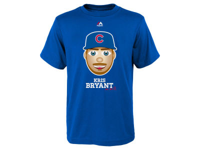 Chicago Cubs Kris Bryant Majestic MLB Youth Emoji T-Shirt