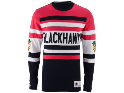 Chicago Blackhawks Mitchell and Ness NHL Men's Open Net Long Sleeve Jersey T-Shirt