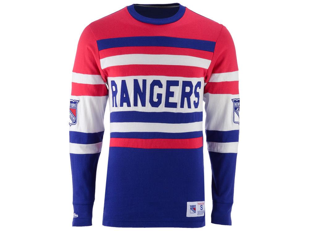 abba5bd0d New York Rangers Mitchell   Ness NHL Men s Neps Long Sleeve Henley T-Shirt