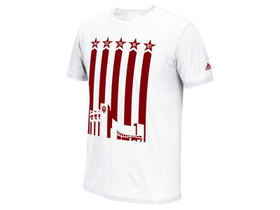 Indiana Hoosiers adidas NCAA Men's Striped Assembly Hall T-Shirt