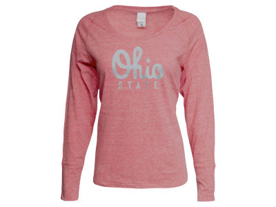 Ohio State Buckeyes NCAA Women's Script Twisted Slub Long Sleeve T-Shirt