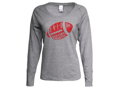 Ohio State Buckeyes NCAA Women's Football Twisted Slub Long Sleeve T-Shirt