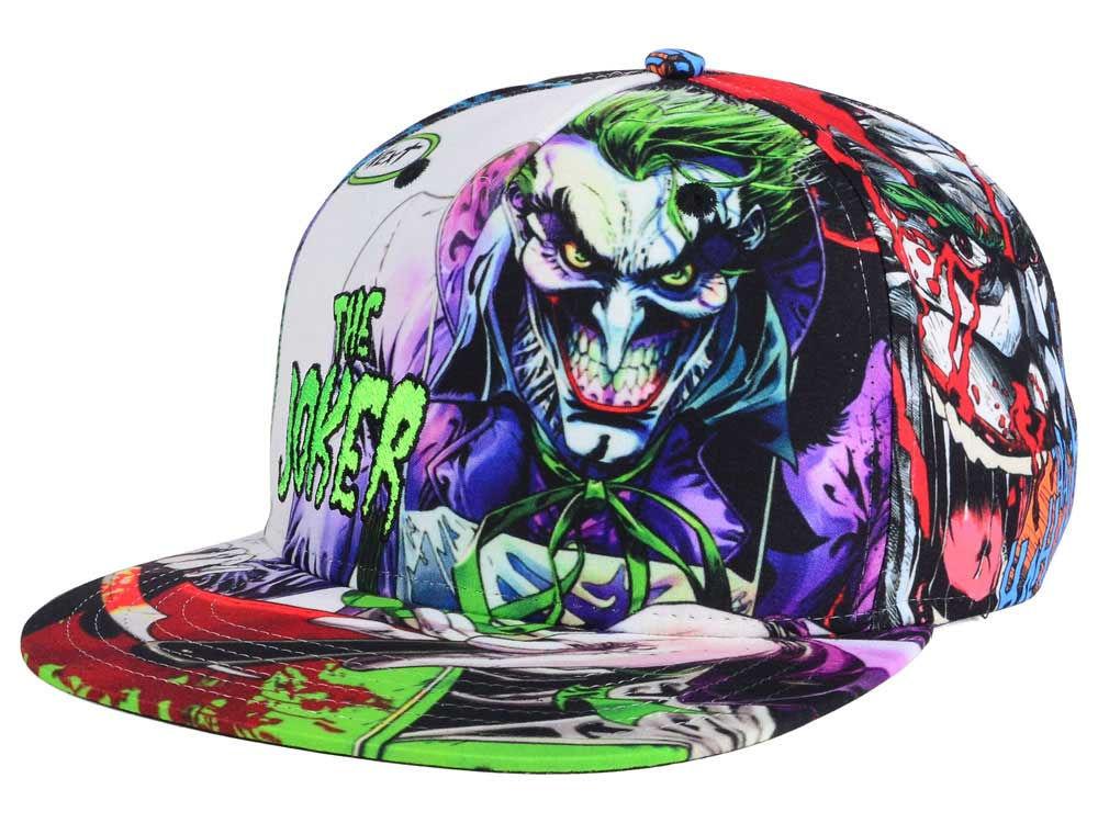 DC Comics Joker Straight Razor Snapback Cap  d662bde7e23