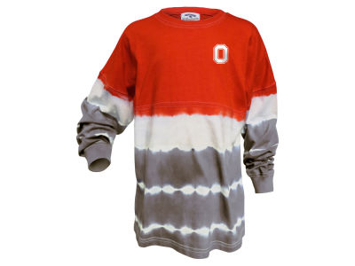 Ohio State Buckeyes NCAA Women's Tie Dye Gameday Long Sleeve T-Shirt