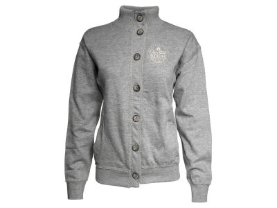 Ohio State Buckeyes NCAA Women's Buckeye Leaf Button Up Fleece