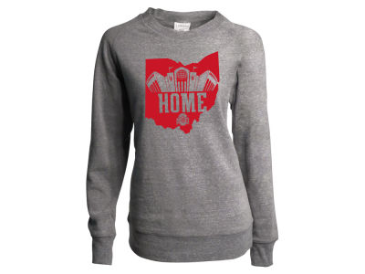 Ohio State Buckeyes NCAA Women's State Home Triblend Fleece Crew Sweatshirt