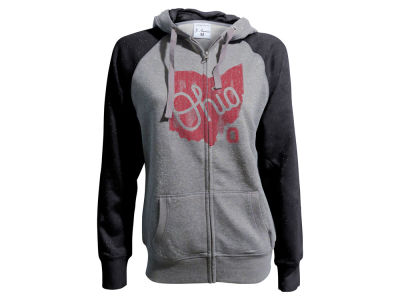 Ohio State Buckeyes NCAA Women's Glitter French Terry Full Zip Hoodie