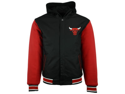 Chicago Bulls NBA Reversible Hooded Poly-Twill Jacket