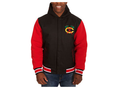 Chicago Blackhawks NHL Men's Reversible Hooded Poly-Twill Jacket