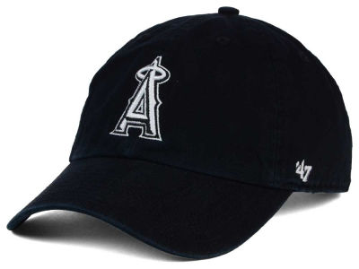 Los Angeles Angels '47 MLB Black White '47 Clean Up Cap