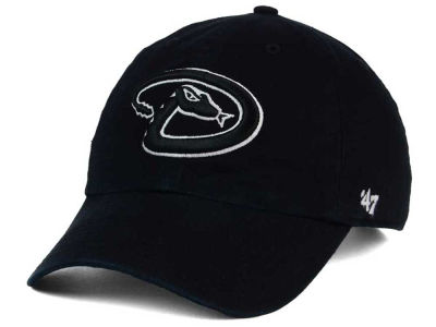 Arizona Diamondbacks '47 MLB Black White '47 Clean Up Cap
