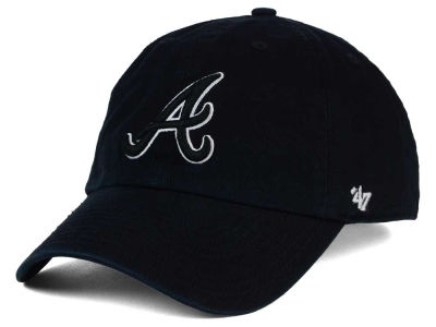 Atlanta Braves '47 MLB Black White Black '47 CLEAN UP Cap