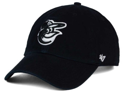 Baltimore Orioles '47 MLB Black White '47 Clean Up Cap