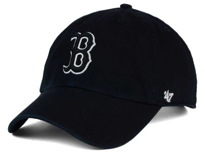 Boston Red Sox '47 MLB Black White Black '47 CLEAN UP Cap