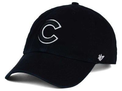 Chicago Cubs '47 MLB Black White '47 Clean Up Cap