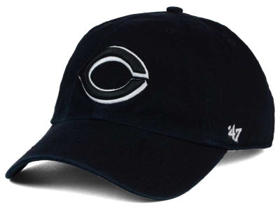 Cincinnati Reds '47 MLB Black White Black '47 CLEAN UP Cap