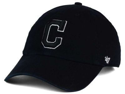 Cleveland Indians '47 MLB Black White Black '47 CLEAN UP Cap