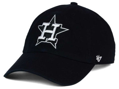 Houston Astros '47 MLB Black White '47 Clean Up Cap