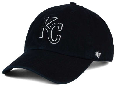Kansas City Royals '47 MLB Black White Black '47 CLEAN UP Cap
