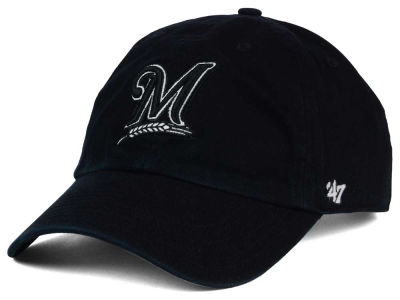 Milwaukee Brewers '47 MLB Black White Black '47 CLEAN UP Cap