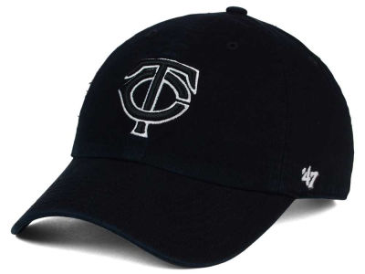 Minnesota Twins '47 MLB Black White Black '47 CLEAN UP Cap