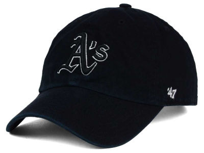 Oakland Athletics '47 MLB Black White Black '47 CLEAN UP Cap