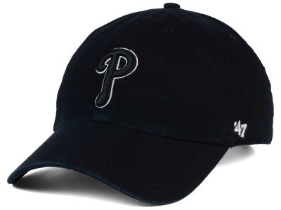 Philadelphia Phillies '47 MLB Black White Black '47 CLEAN UP Cap