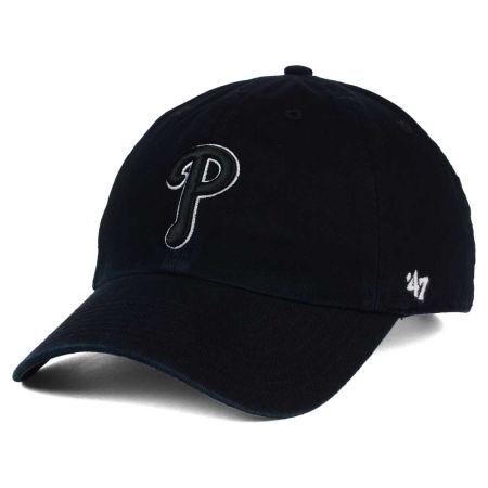 Philadelphia Phillies '47 MLB Black White Black '47 CLEAN UP Cap