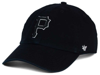 Pittsburgh Pirates '47 MLB Black White Black '47 CLEAN UP Cap