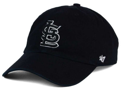 St. Louis Cardinals '47 MLB Black White Black '47 CLEAN UP Cap