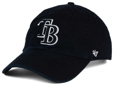 Tampa Bay Rays '47 MLB Black White '47 Clean Up Cap