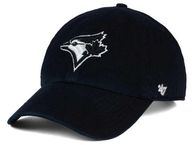 Toronto Blue Jays '47 MLB Black White Black '47 CLEAN UP Cap